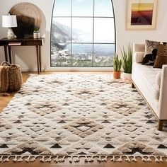 Shop Safavieh Moroccan Tassel Shag Kobi Moroccan Rug - On Sale - Overstock - 28456999 - x - Ivory/Brown Living Room Area Rugs, Living Room Carpet, Rugs In Living Room, Moroccan Living Rooms, Dining Room, Farmhouse Area Rugs, My New Room, Online Home Decor Stores, Online Shopping