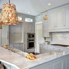 Traditional Kitchen Design Ideas, Pictures, Remodel And Decor. Light Gray  CabinetsGray ...