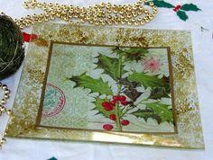 Decoración de cristal y vidrio para navidad.