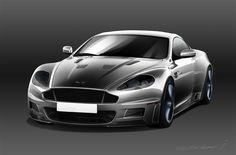 Aston martin Vanquish by Ilya Vostrikov