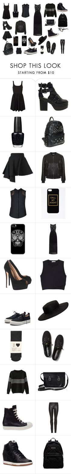 """BlackOne"" by m-gorodetskaya ❤ liked on Polyvore featuring Vero Moda, ASOS, OPI, FAUSTO PUGLISI, Topshop, nooy by yoon, Paul Smith, Giuseppe Zanotti, A.L.C. and Eytys"