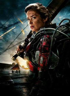 Edge of Tomorrow Poster V017 - Emily Blunt 27 X 40 Textless -