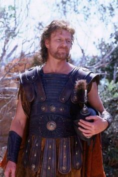 "Sean Bean as Odysseus in ""Troy"" directed by Wolfgang Petersen. Hollywood Costume, Hollywood Actor, Sean Bean Troy, Troy Film, Troy Movie, Brad Pitt, City Of Troy, Mustache Men, Ancient Greece"
