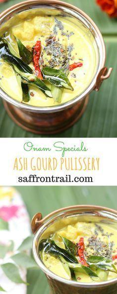 Recipe for Ash gourd pulissery - Onam Sadya recipe White Pumpkin Centerpieces, White Pumpkin Decor, White Pumpkins, Curry Recipes, Vegetarian Recipes, Cooking Recipes, Goan Recipes, Vegetarian Curry, Vegetarian Cooking