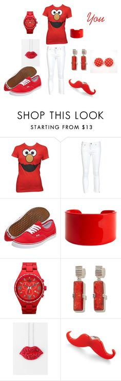 """You"" by princelilsistrinaperez ❤ liked on Polyvore featuring Sesame Street, Helmut Lang, Vans, Moschitto Designs, adidas, FluffyCo and Retrò"