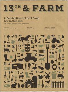 Farmers market poster from Weiden  Kennedy (via design*sponge)  | followpics.co