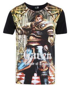Garen League of Legends camisa de manga curta t para homens-
