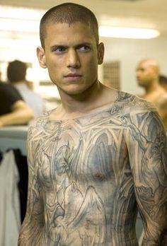 Wentworth Miller! One hottie!  From Prison Break