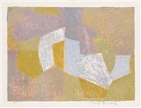 Composition Carmin, Brune, Jaune et Grise von Serge Poliakoff