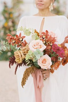 """From the editorial """"Here's Why We're Welcoming Jewel Toned Color Palettes With Open Arms in 2021."""" This shoot is the reason why we're welcoming jewel toned color palettes with open arms in 2021! #stylemepretty #fallwedding #fallbouquet #weddingflowers #autumnwedding Bridal Bouquet Fall, Fall Bouquets, Wedding Bouquets, Wedding Flowers, Jewel Tone Colors, Jewel Tones, Wedding Wishes, Our Wedding, Black Tux Wedding"""