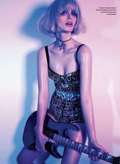 """Glam Rock"" photographer: Richard Bernardin fashion editor: Fritz hair & make-up: Paco Puertas model: Pamela @ Montage Models"