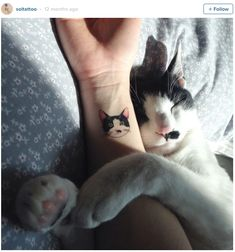 14 impossibly cute cat tattoos to show off your cat love forever - CosmopolitanUK