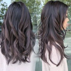 Image result for ash brown and lilac tipped hair color