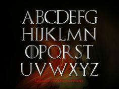 Game Of Thrones Alphabet designed by Vesna Barlas.