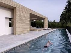 Pool House 2 Verandas Designed by gus wüstemann architects Indoor Outdoor Living, Outdoor Pool, Outdoor Sheds, Backyard Patio, House 2, Modern Pools, Villa, Pool Houses, Pool Designs