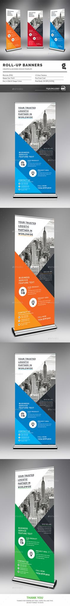 Roll-Up Banner Template PSD. Download here: https://graphicriver.net/item/rollup-banner/17377672?ref=ksioks