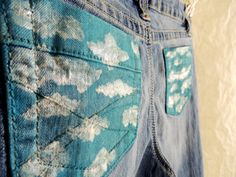 Cloud Painted Pocket Shorts and Jeans by CrazySexyChic on Etsy, $24.99