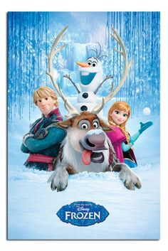 Disney Frozen The Movie Snow Group Poster