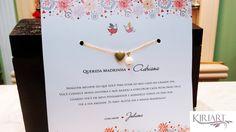 Convite em Papel Branco opalina (ou de sua escolha), tamanho 18x18cm, impressão frente, com envelope impresso,  Embalado no tule.    INCLUI PULSEIRA