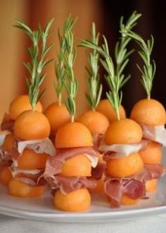 Melonen-Spieße