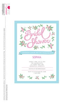 free bridal shower party printables from love party printables - Free Bridal Shower Templates