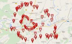 Mapa Google Twierdzy Przemyśl udostępniona z http://www.twierdzaprzemysl.org
