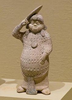 Standing Male Whistle Figure Maya Jaina Island 600-900 CE Ceramic