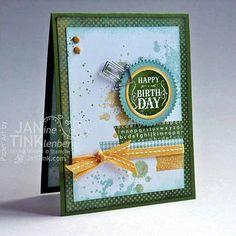 Greeting Card  Happy Birthday Urban Grunge Chic by JanTink on Etsy, $5.95