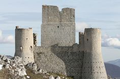 Rocca Calascio is a mountaintop fortress or rocca in the Province of L'Aquilla in Abruzzo, Italy. It was built in the 10th century out of stone and masonry.