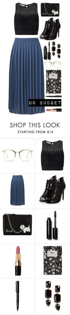 """On Budget"" by vazsu ❤ liked on Polyvore featuring Miss Selfridge, Uniqlo, Harrods, Bobbi Brown Cosmetics, Design Letters, Lamy and Loren Hope"