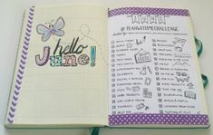 Welcome to June in my Bullet Journal!