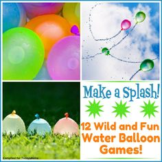 Water Balloon Games–12 Splashy Backyard Activities!