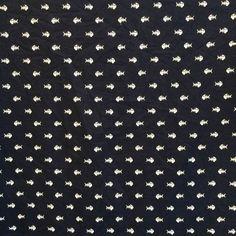 Bonsaï Tissu coton//lin imprimé en tissu gris vendu par mètre