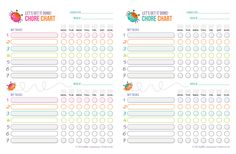 Free Printable Chore Chart by our good friend @hcuteness