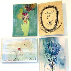 Thank you greeting cards (pack of 4) | hardtofind.