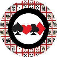 """Imprimés Thème """"Poker"""" : http://fazendoanossafesta.com.br/2012/04/jogos-de-cartas-mini-kit-de-convites-molduras-rotulos-e-lembrancinhas.html/"""