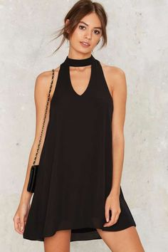 Drawing a Blank Cutout Dress - Black