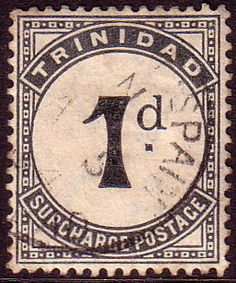 Trinidad 1885 Postage Due SG D16 Fine Used Scott J8  Other West Indies and British Commonwealth Stamps HERE!