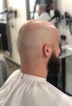Bald Men With Beards, Bald With Beard, Shaved Head With Beard, Shaved Heads, Bald Look, Male Pattern Baldness, Edgy Hair, Bald Heads, Bearded Men