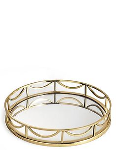 Deco Round Mirror Tray