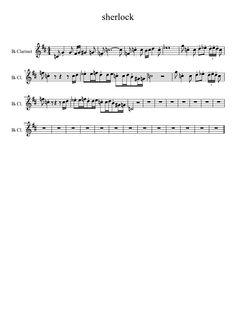 Sherlock Theme for Clarinet