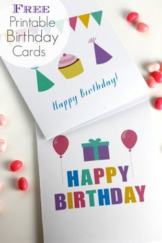 Free Printable Blank Birthday Cards from CatchMyParty.com! Now you'll never be without a birthday card!