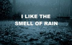 Smell of rain