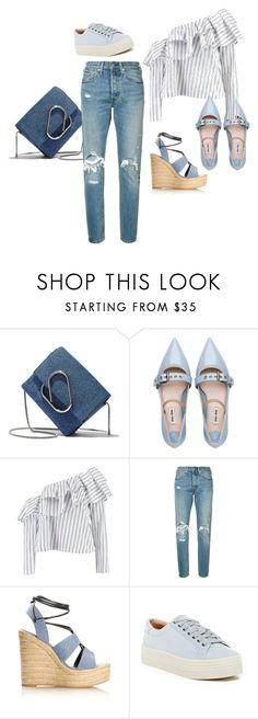 """Casual Kind-a-Day"" by nadyadeannisa on Polyvore featuring 3.1 Phillip Lim, Miu Miu, Boohoo, Levi's, Yves Saint Laurent, Marc Fisher LTD and SimpleOutfits"