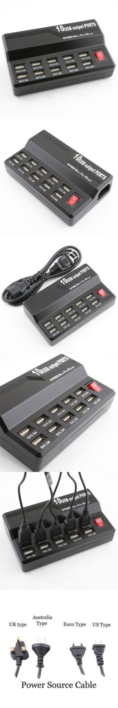 10 Port USB Fast Charger http://www.usbgeek.com/products/10-port-usb-fast-charger
