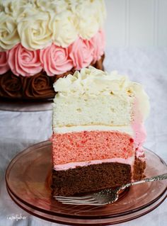 Beautiful Neopolitan cake.