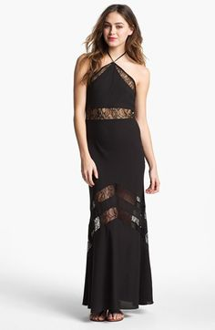 Lovers + Friends Tonight Lace Inset Maxi Dress available at #Nordstrom