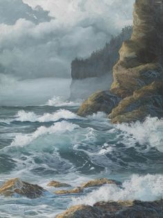 Soft Fog Paper Giclee Print Seascape Ocean by carolthompsonart, $39.00