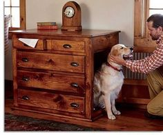 Ideas Diy Dog Crate Furniture Puppys For 2019 Cheap Dog Houses, Cool Dog Houses, Crate Bed, Diy Dog Crate, Luxury Dog House, Dog Crate Furniture, Furniture Ads, Wallpaper Furniture, Furniture Market