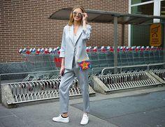Street style with Romee Strijd, spotted wearing the Royale sneaker on @thenewyorktimes' Instagram - $159. Photo by @gastrochic. #beoneofthegreats #greatsbrand #greats